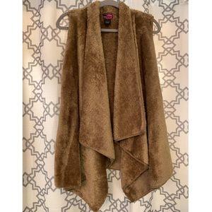 Fuzzy Brown Vest